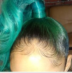 Find images and videos about hair, green hair and edges on We Heart It - the app to get lost in what you love. Weave Hairstyles, Pretty Hairstyles, Girl Hairstyles, Senior Hairstyles, Protective Hairstyles, Ponytail Hairstyles, Protective Styles, Big Chop, Love Hair