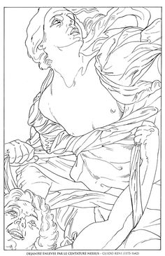 dejanire enlevee par centaure nessus_guido reni famous paintings coloring pages