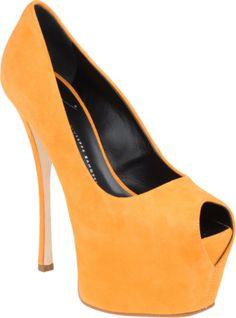 yellow stilettos