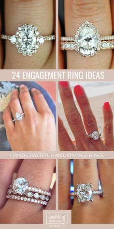 18 Utterly Gorgeous Engagement Ring Ideas ❤ We hope these perfect engagement ring ideas inspire you to make a right choice. See more: http://www.weddingforward.com/engagement-ring-inspiration/ #wedding #ring #engagement