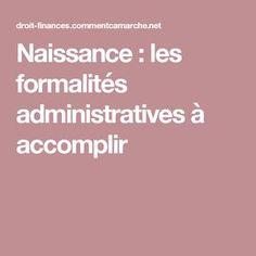 Naissance : les formalités administratives à accomplir