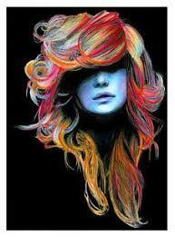 karakalem çizimler saç ile ilgili görsel sonucu