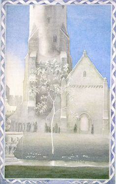 A painting of the white tree of Gondor, by Alan Lee -Finally! A work of art with the credit attached. Yay!