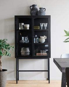 Vissa skåp är snyggare än andra  Håller ni inte med? MARSHALL är ett snyggt och stilsäkert vitrinskåp som lyfter vilket rum som helst till nästa nivå! Scandinavian Living, Marshalls, China Cabinet, Bookcase, Shelves, Storage, Glass, Interior, Furniture