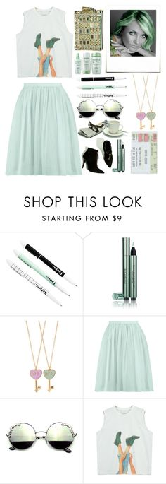 """""""green n pretty"""" by emcf3548 ❤ liked on Polyvore featuring Yves Saint Laurent, Monsoon, Boohoo, Chicnova Fashion and Kérastase"""