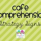 Strategy signs for the comprehension portion of your CAFE board. Can be used with my Simple CAFE Headers.  Some strategy signs include characters f...