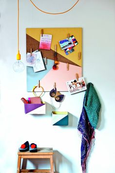 Put more color in your life!  Revamp a tired cork-board