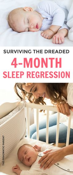 """There's a collective sigh from Moms everywhere when you hear the words, """"4 Month Sleep Regression."""" It's the first massive sleep regression stage most babies will go through and parents who have just gotten their baby on a solid sleep schedule, experience the dreaded sleepless nights right along with them. Learn how long the 4month sleep regression lasts and how you help your baby through this phase with these 4 month sleep regression tips.#4monthsleepregressio #sleepregression #babysleep"""