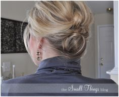 Easy textured updo and half-back styles for medium length hair: The Small Things Blog: Knotty or Nice