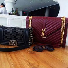 YSL burgundy bag 😱😱😱so beautiful Luxury Bags, Luxury Handbags, Purses And Handbags, Ysl Bag, Chanel Boy Bag, Burgundy Bag, Sacs Design, Yves Saint Laurent Bags, Latest Bags