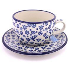 $25.99 Cup with Saucer 7.5 oz (0.22 L) #156 | Slavica Polish Pottery