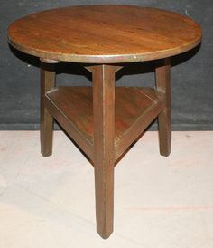 19th C Antique pine Welsh cricket table. 1850