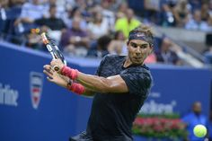 August 31, 2015 - Rafael Nadal in action in a Men's Singles - Round 1 matchin action in a Men's Singles - Round 1 match during the 2015 US Open at the USTA Billie Jean King National Tennis Center in Flushing, NY. (USTA/Garrett Ellwood)