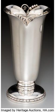 Silver Holloware, American:Vases, A Georg Jensen Inc. Silver Vase, New York, post-19...