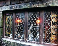 Harry Potter Art: The Three Broomsticks near Hogwarts. $20.00, via Etsy.