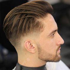 40 Best Side Swept Undercut Hairstyles For Men #undercut #undercuthaircut #undercutfade #mensundercut #disconnectedundercut #undercutmen #undercutdesigns #menshairstyles #menshaircut #menshaircuts Cool Mens Haircuts, Stylish Haircuts, Cool Hairstyles For Men, Men's Haircuts, Creative Hairstyles, Textured Haircut, Fade Haircut, Haircut Long, Medium Hair Styles