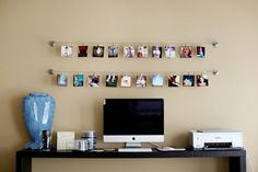 Love the string of photos; great way to spice up a small space