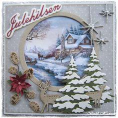 Endelig fik jeg lavet mit første julekort. Klip og klister glæden begynder så småt at komme tilbage igen Há en god dag