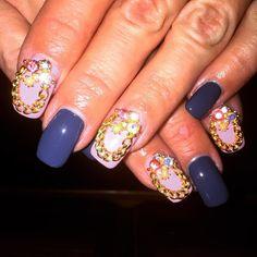 Navy blue and pink Nails with one of my new charms!! Love these!! #nailcharms #nails #nailart #nailsdid #ilovenails #nailpolish #instanails #naildesign #nailsofinstagram #nailsoftheday #nailaddict #nailartaddict #prettynails #nailsofig #nailstuds #orly #chinaglaze #opi #loreal #sallyhansen #sechevite #notd #scra2ch #prettynails #nailsdid #nailsdone #nailsonpoint by mrsckelly