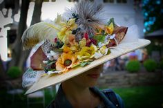 Another view of my Derby hat!  (made by an extremely talented friend.)