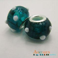 $1.39    Cyan Lampwork Murano Glass Beads Silver Core  Fit Bracelet http://www.eozy.com/cyan-lampwork-murano-glass-beads-silver-core-fit-bracelet.html
