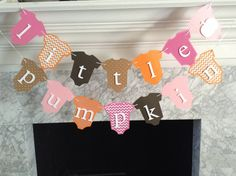 Baby Shower Decor Little Pumpkin Banner Fall Baby by PaperStrip...click on this link below to view on Etsy: https://www.etsy.com/listing/250077867/baby-shower-decor-little-pumpkin-banner?ref=shop_home_active_45
