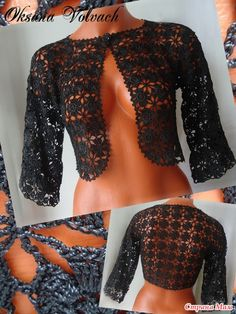ergahandmade: Crochet bolero + Diagram + Pattern Step By Step