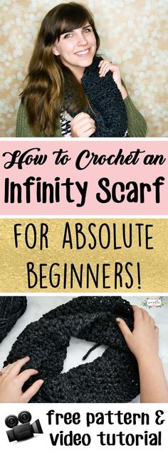 Learn to crochet the easiest infinity scarf or cowl ever! Even if you're brand new to crochet, you can make this scarf. It works up in about 1 hour and is very beginner friendly! Free written pattern and video tutorial from Sewrella