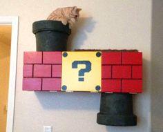 DIY Super Mario Cat Shelf - petdiys.com