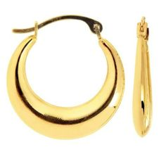 14K Yellow Gold Half Moon Hoop Earrings (17 x 17 mm) JewelryAffairs. $69.00. Gift Wrap Available - Personal Message Available. Item comes in a gift box. 14 Karat Gold