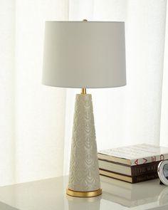 Scalloped Ceramic Lamp  by Regina Andrew Design at Horchow.