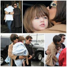 Actress - atriz - actriz - actor - ator - hair - cabelo - pelo - beautiful - bonita - hermoso - moda - look - style - estilo - elegant - elegante - chic - inspiration - inspiração - inspiración - fashion - coat - casaco - shirt - blusa - top - Splendid Littles - pink - rosa - child - baby - bebê - daughter - filha - hija - father - pai - padre - dad - papai - papá - mother - mãe - madre - mom - mamãe - mamá - happy family - família feliz - may - 2008 - Katie Holmes - Suri Cruise - Tom Cruise