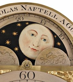 Moonphase Longcase Clock by Naftel of Guernsey