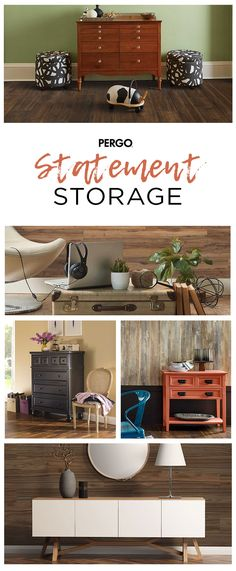 Make a statement with colorful storage spaces. Whether your look is rustic or contemporary, there's a chic space to complement any style for any room.