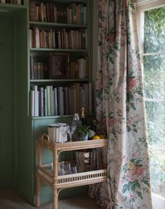 Add a cheeky touch of chintz in a floral fabric. It looks gorgeous with rattan and this season's green!  For more decorating inspiration visit theROOMedit.com