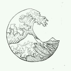 """""""The Great Wave"""" outline. i want it as a tattoo - """"The Great Wave"""" outline. i want it as a tattoo The Effective Pictures We Offer You About wave - Tattoo Drawings, Body Art Tattoos, Tatoos, Art Drawings, Tattoo Outline, Neue Tattoos, Mandala Tattoo, Tattoo Wave, Geometric Tattoos"""