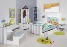 Seaside colours for a boys bedroom.Love this colors