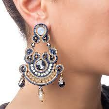Resultado de imagen de soutache earrings                                                                                                                                                                                 More