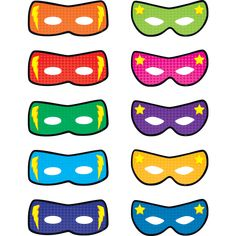 Superhero Masks Accents Image