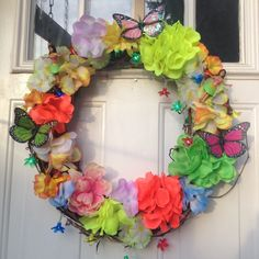 A personal favorite from my Etsy shop https://www.etsy.com/listing/233319261/hawaiian-summer-wreath