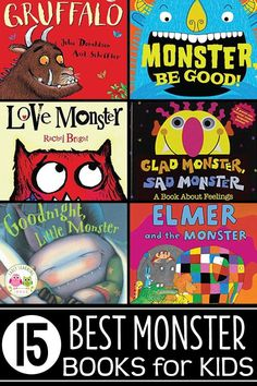 From old favorites to new tales, chick out this list of my favorite monster books for kids. They are the perfect addition to your monster theme circle time. Monster Activities, Monster Crafts, Gross Motor Activities, Circle Time Activities, Letter Activities, Literacy Activities, Big Green Monster, Love Monster, Monster Theme Classroom