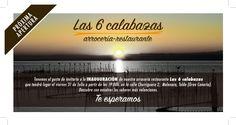 Invitación arrocería restaurante Las 6 calabazas
