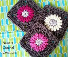 "Nana's ""Fluffy Flower"" Square"
