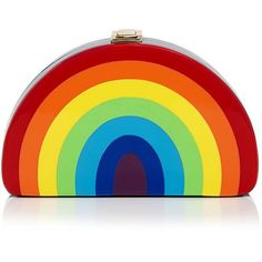 Milly Rainbow Half Moon Clutch (415 CAD) ❤ liked on Polyvore featuring bags, handbags, clutches and milly handbags