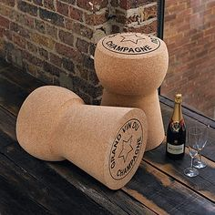 Champagne, Cava + Prosecco Cork Side Table Free P+P by Impulse Purchase, the perfect gift for Explore more unique gifts in our curated marketplace. Cork Table, Living Room Accessories, Low Stool, Champagne Bottles, Champagne Bar, Vintage Champagne, Red Candy, Cork Crafts, Prosecco