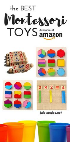 Kids crave simplicity! Create a rich, simple, and beautiful environment for play with Montessori toys. Click through for 10  of the best Maria Montessori inspired toys. These learning toys are perfect for your baby, toddler, or preschooler. Plus, they're all available on Amazon, too!