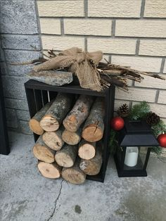 Deco de Noël 2016 Firewood, Texture, Crafts, Surface Finish, Crafting, Diy Crafts, Craft, Arts And Crafts, Wood Fuel