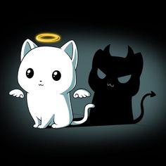Purr Evil (Black) shirt TeeTurtle Veja aqui neste link >> http://www.universodegatos.com/gato/ ~ É verdade que por vezes pode dar um pouco de trabalho cuidar do seu #gato, quem tem um gato certamente sabe que muitas vezes vai trabalhar com cheiro a gato ou com a roupa cheia de pêlo, mas nada supera a amizade com gato!