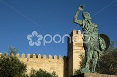 statue of ibn marwan 6. founder of badajoz - Stock Photo | by jg_aunion