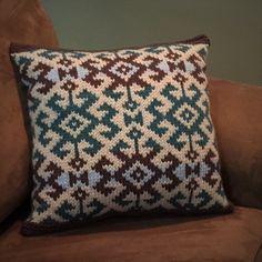 Fair Isle style Kilim Pillow by Mary Ann Stephens on Ravelry.com.